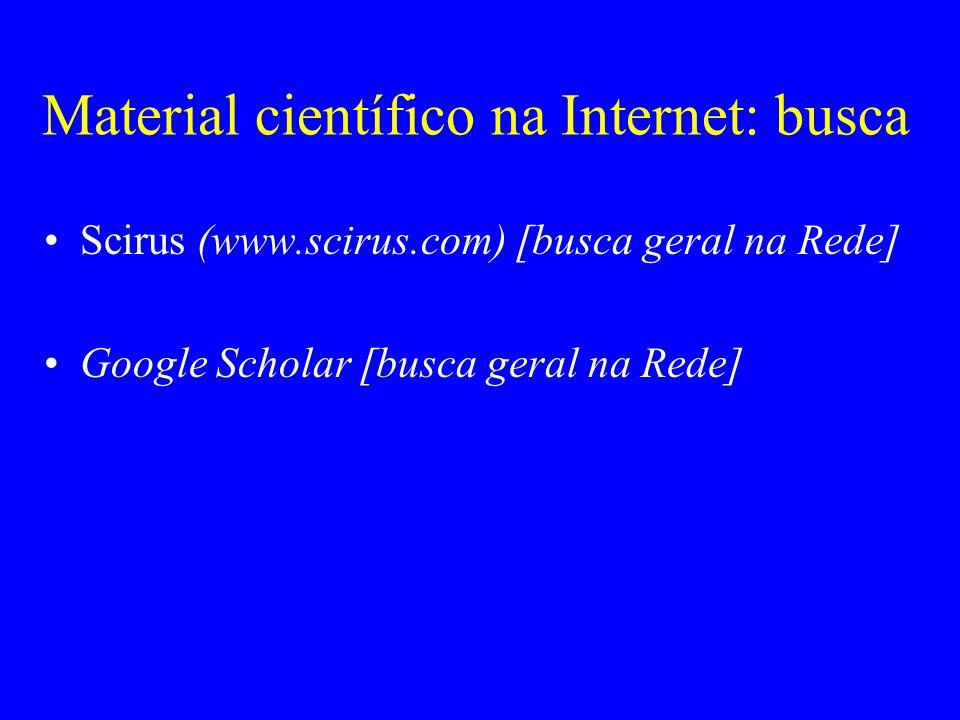 Material científico na Internet: busca