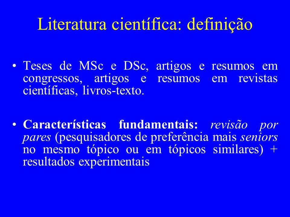 Literatura científica: definição