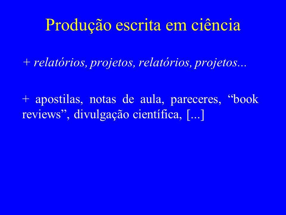 Produção escrita em ciência