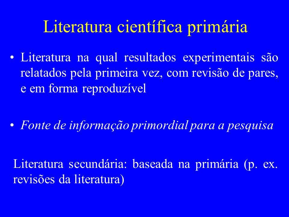 Literatura científica primária