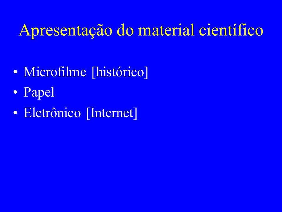 Apresentação do material científico