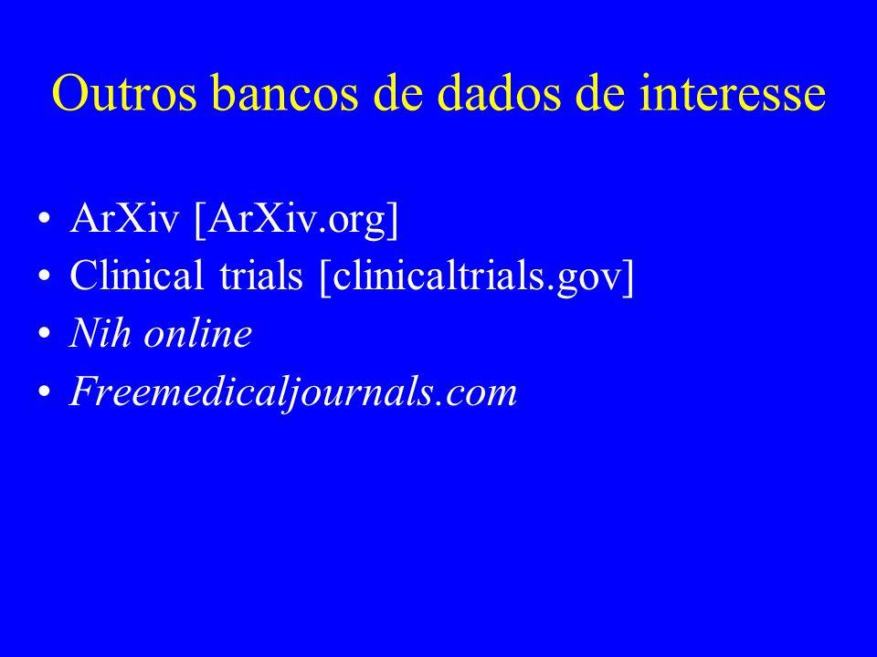 Outros bancos de dados de interesse