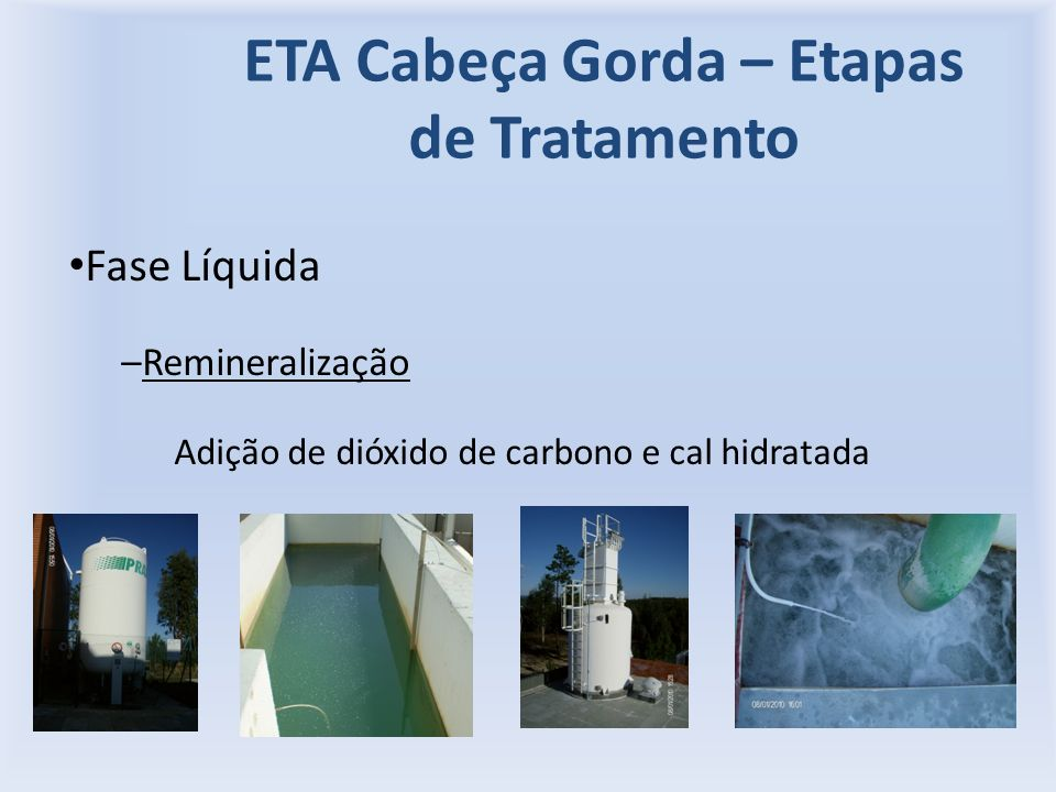 ETA Cabeça Gorda – Etapas de Tratamento