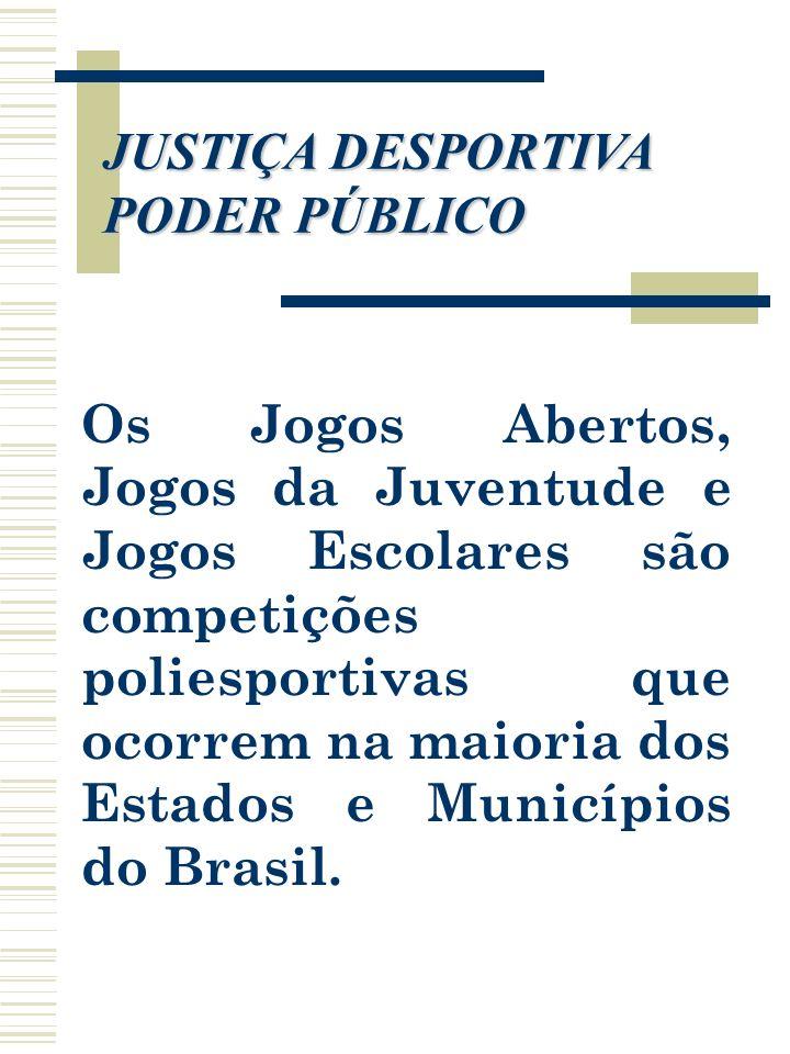 JUSTIÇA DESPORTIVA PODER PÚBLICO