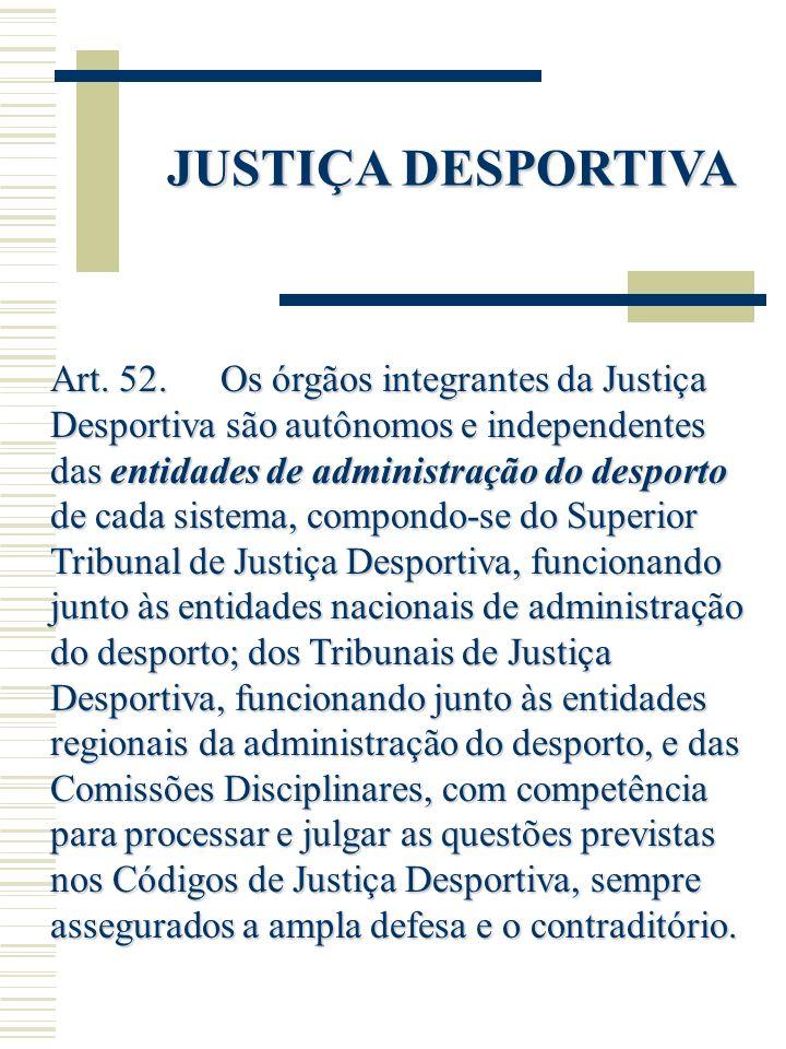 JUSTIÇA DESPORTIVA