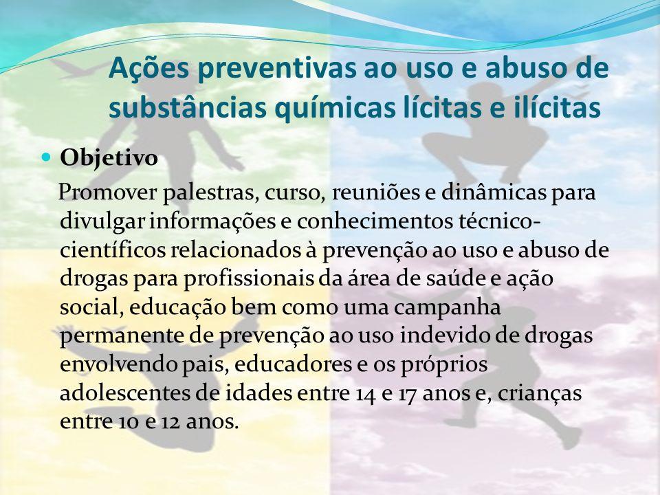 Ações preventivas ao uso e abuso de substâncias químicas lícitas e ilícitas