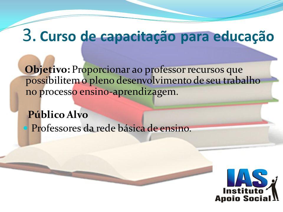 3. Curso de capacitação para educação