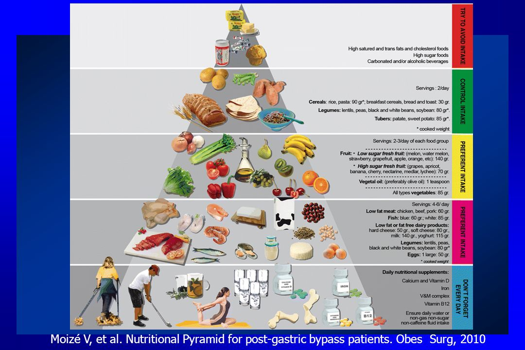 Moizé V, et al. Nutritional Pyramid for post-gastric bypass patients