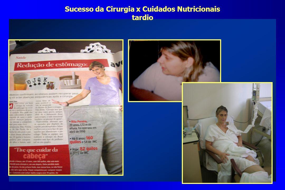 Sucesso da Cirurgia x Cuidados Nutricionais