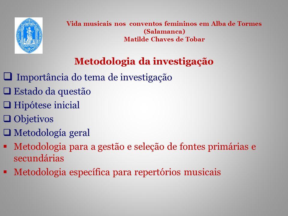 Metodologia da investigação
