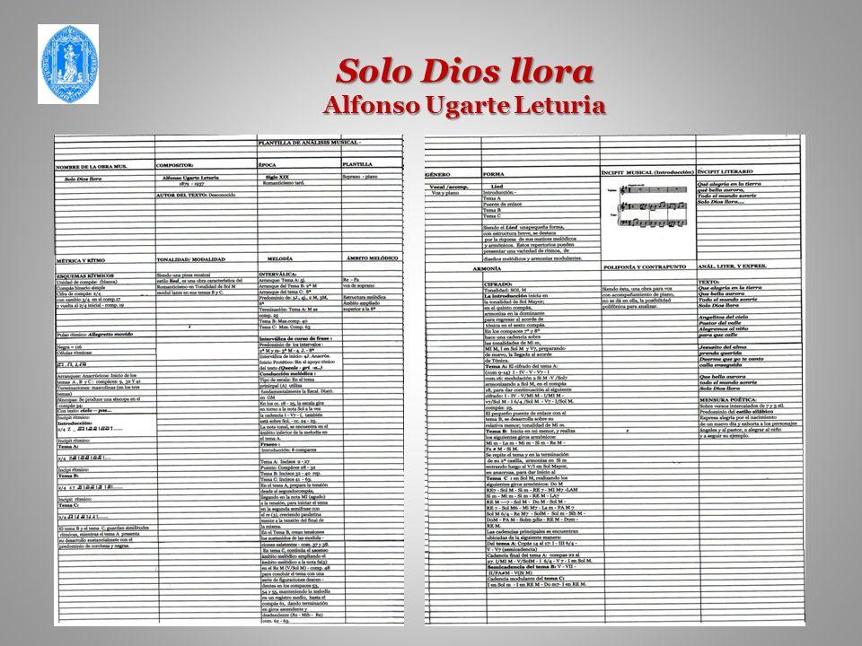 Solo Dios llora Alfonso Ugarte Leturia
