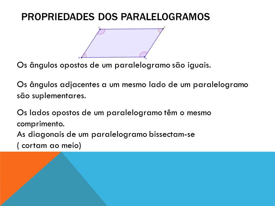Propriedades dos paralelogramos