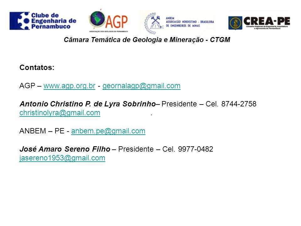 . Contatos: AGP – www.agp.org.br - geornalagp@gmail.com