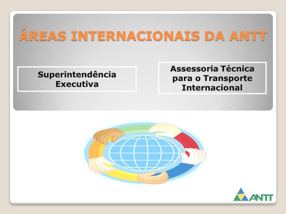 ÁREAS INTERNACIONAIS DA ANTT