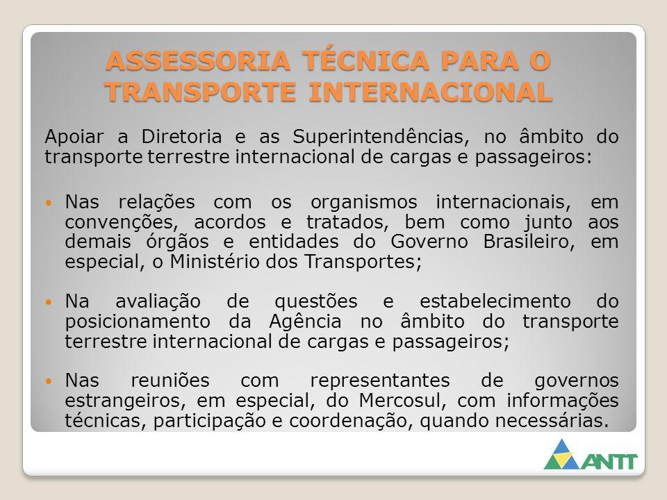 ASSESSORIA TÉCNICA PARA O TRANSPORTE INTERNACIONAL
