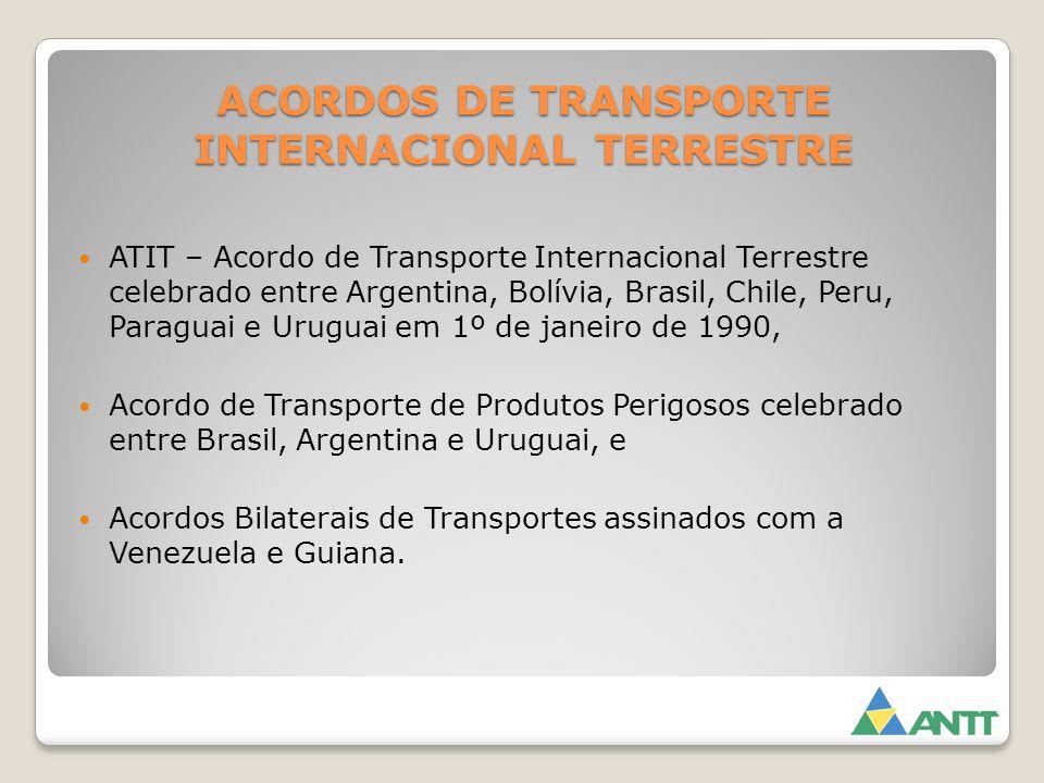 ACORDOS DE TRANSPORTE INTERNACIONAL TERRESTRE