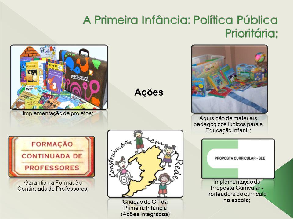 A Primeira Infância: Política Pública Prioritária;