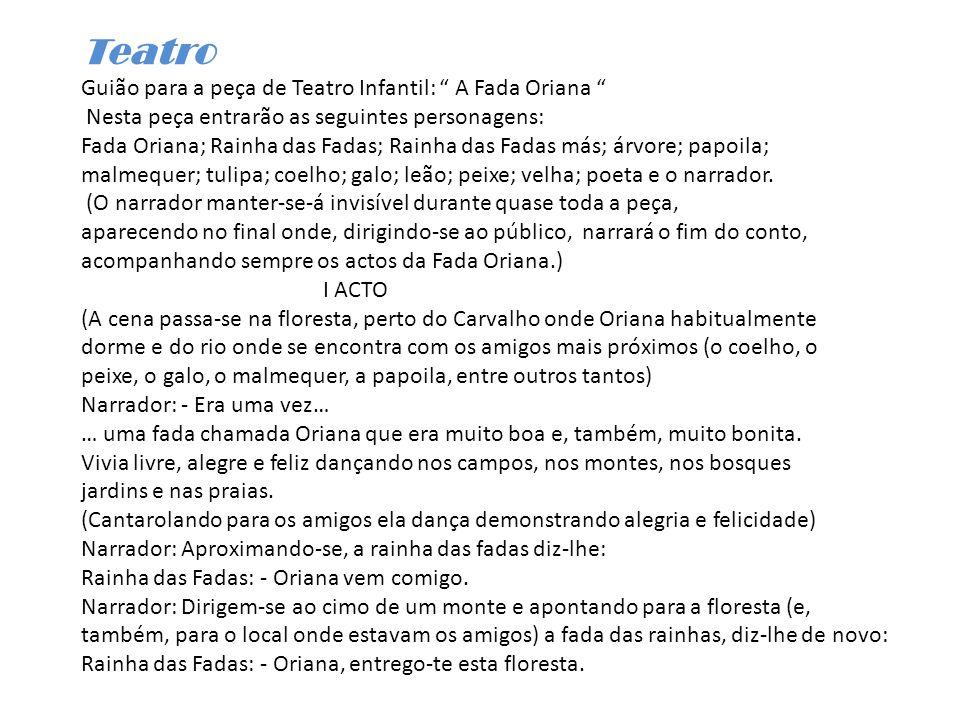 Teatro Guião para a peça de Teatro Infantil: A Fada Oriana