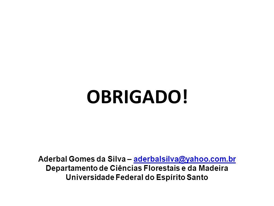 OBRIGADO! Aderbal Gomes da Silva – aderbalsilva@yahoo.com.br