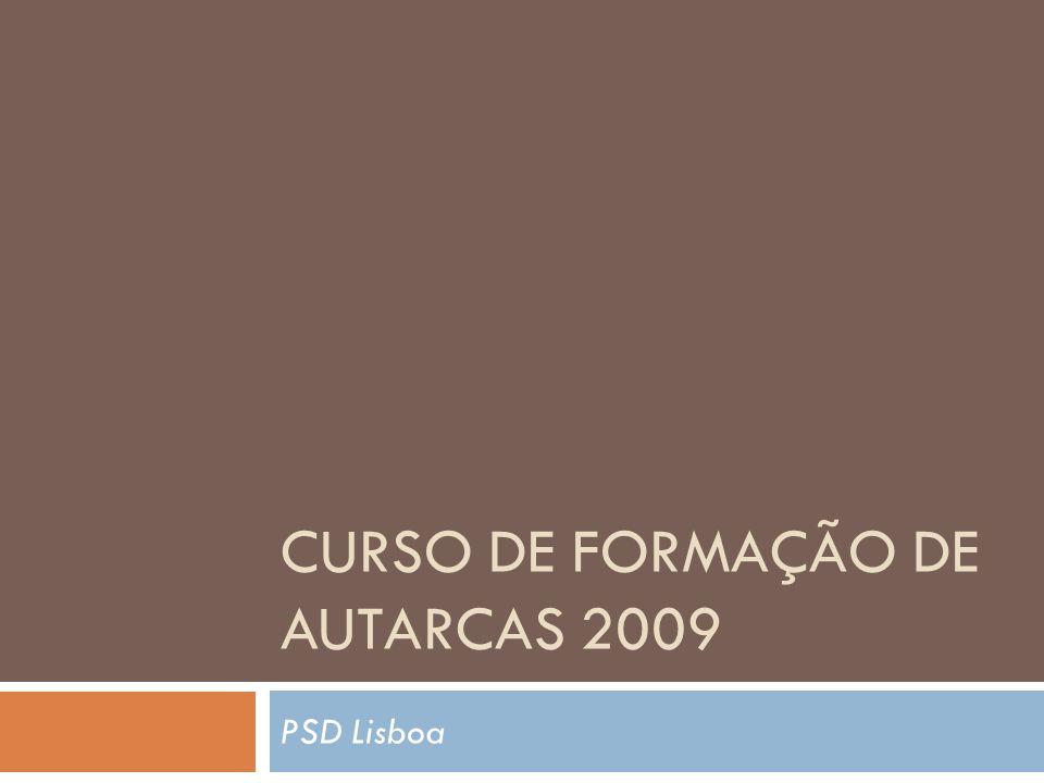 Curso de Formação de Autarcas 2009