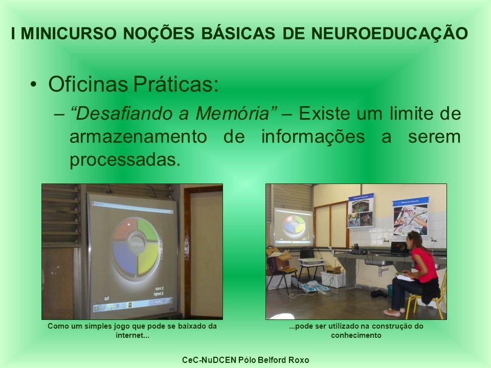 I MINICURSO NOÇÕES BÁSICAS DE NEUROEDUCAÇÃO