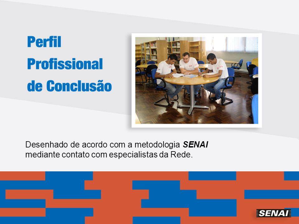 Desenhado de acordo com a metodologia SENAI mediante contato com especialistas da Rede.