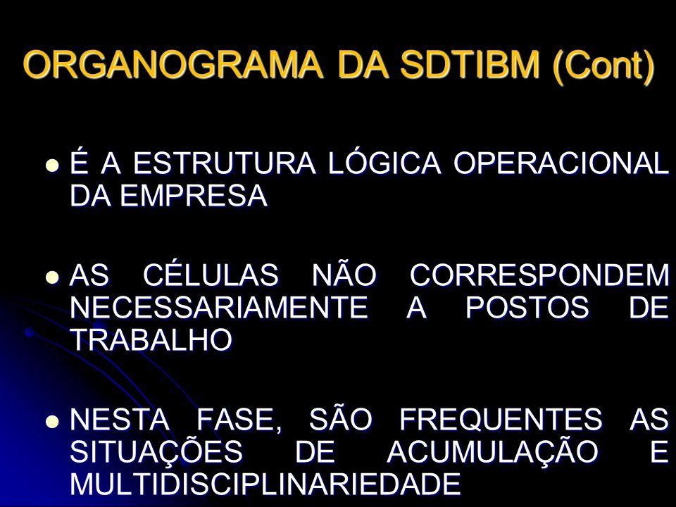 ORGANOGRAMA DA SDTIBM (Cont)