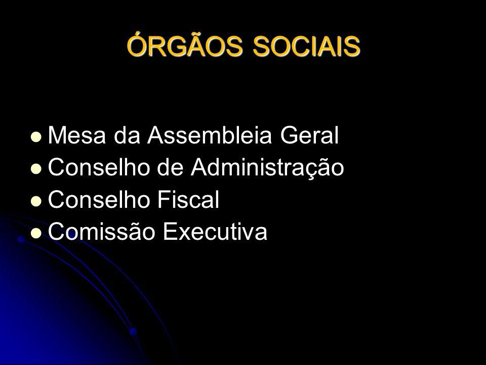 ÓRGÃOS SOCIAIS Mesa da Assembleia Geral Conselho de Administração