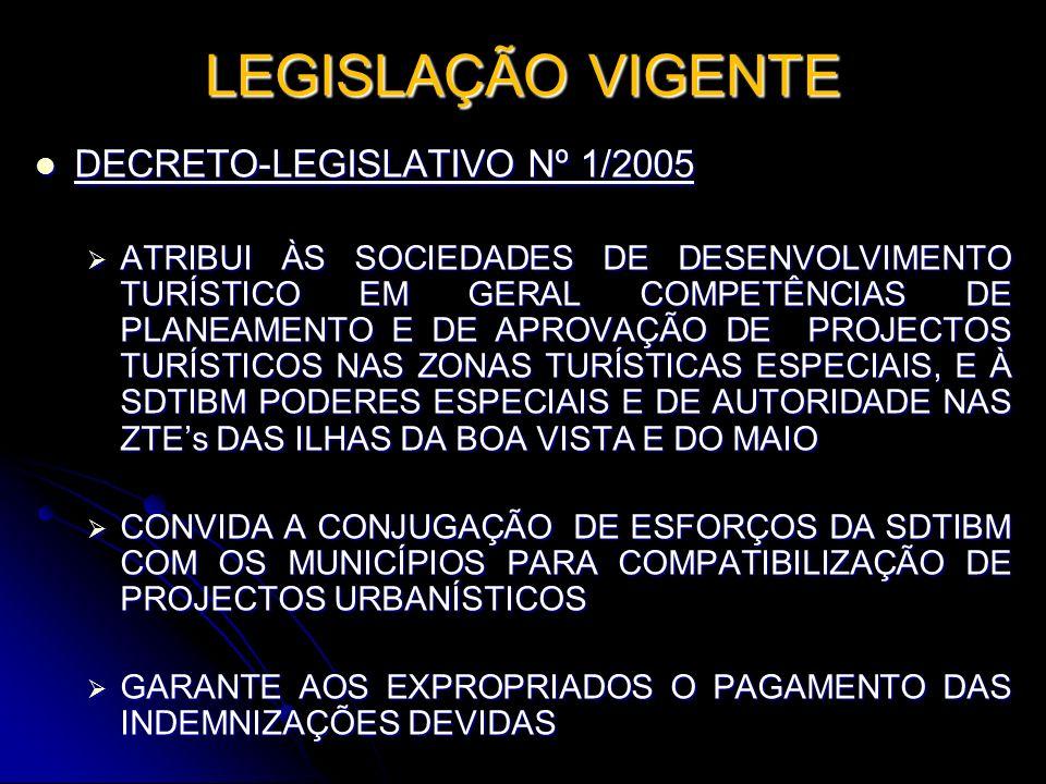 LEGISLAÇÃO VIGENTE DECRETO-LEGISLATIVO Nº 1/2005