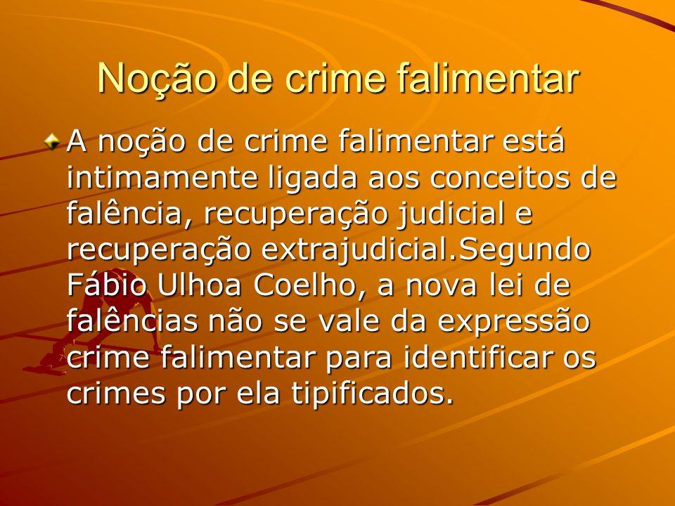 Noção de crime falimentar