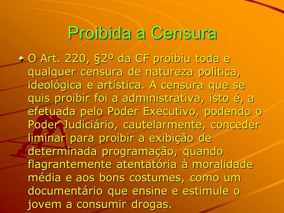 Proibida a Censura