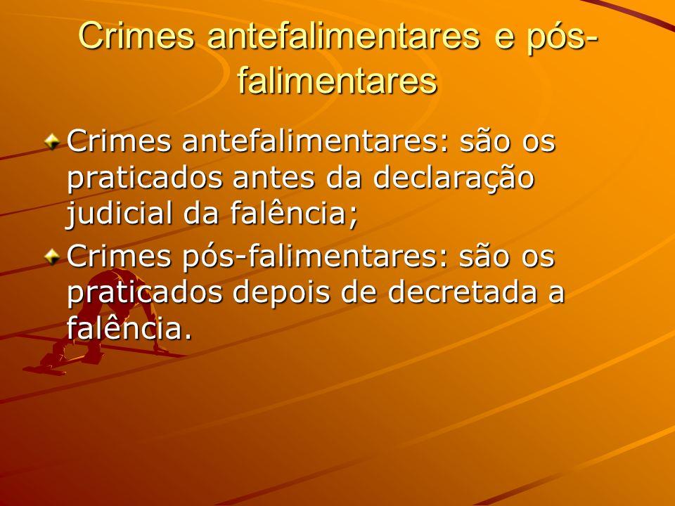 Crimes antefalimentares e pós-falimentares
