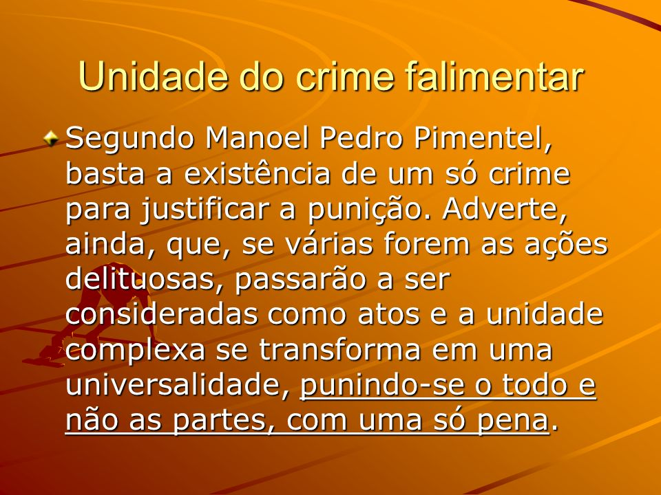 Unidade do crime falimentar