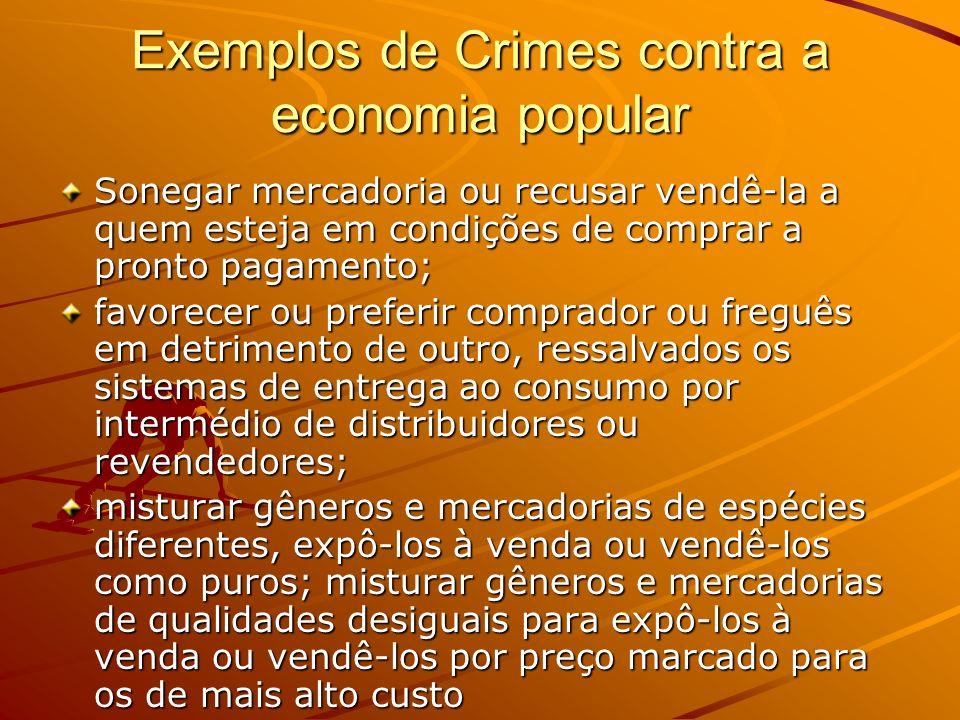 Exemplos de Crimes contra a economia popular