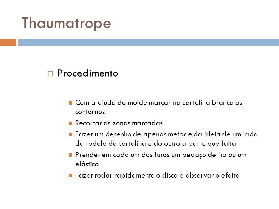 Thaumatrope Procedimento