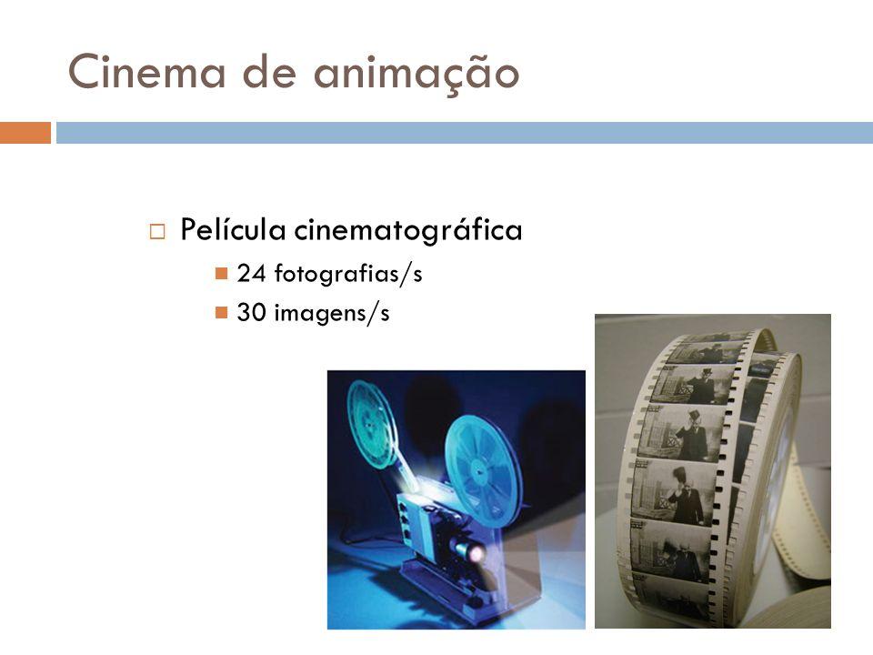Cinema de animação Película cinematográfica 24 fotografias/s