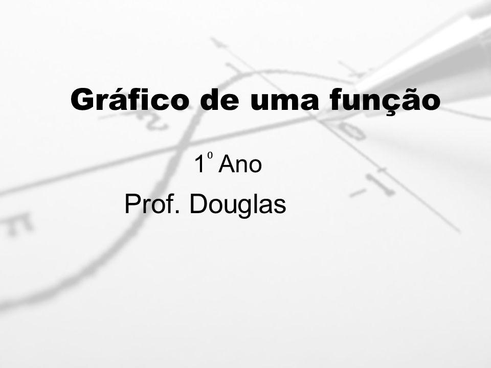 Gráfico de uma função 1⁰ Ano Prof. Douglas