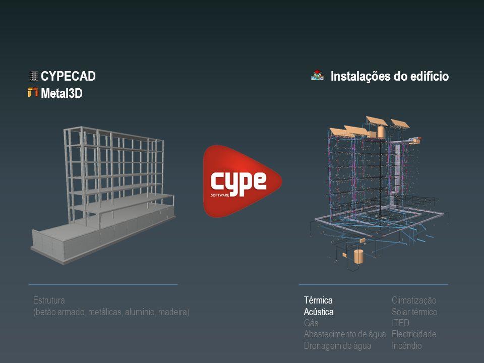 Instalações do edifício Metal3D