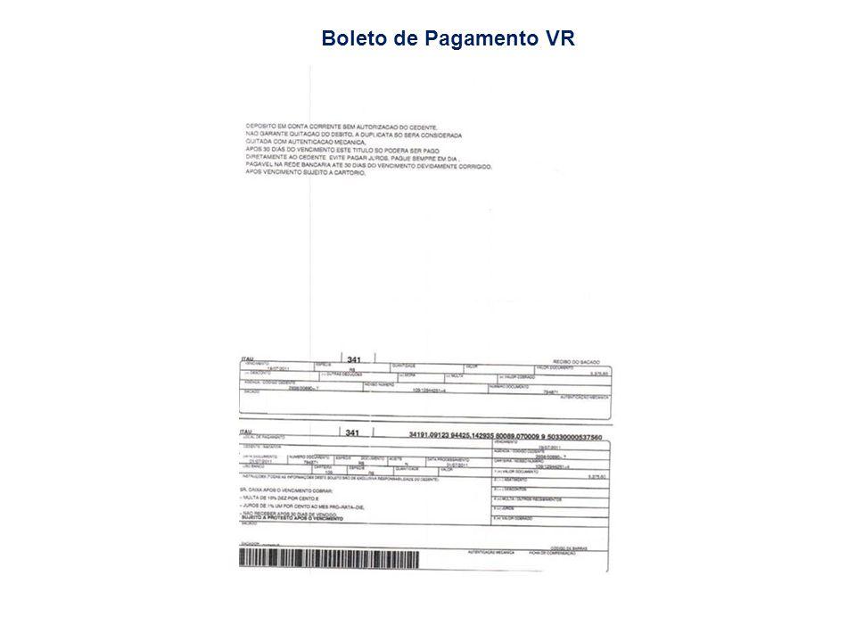 Boleto de Pagamento VR