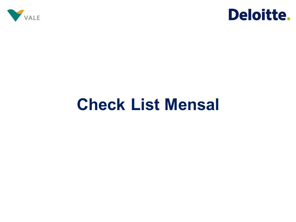 Check List Mensal