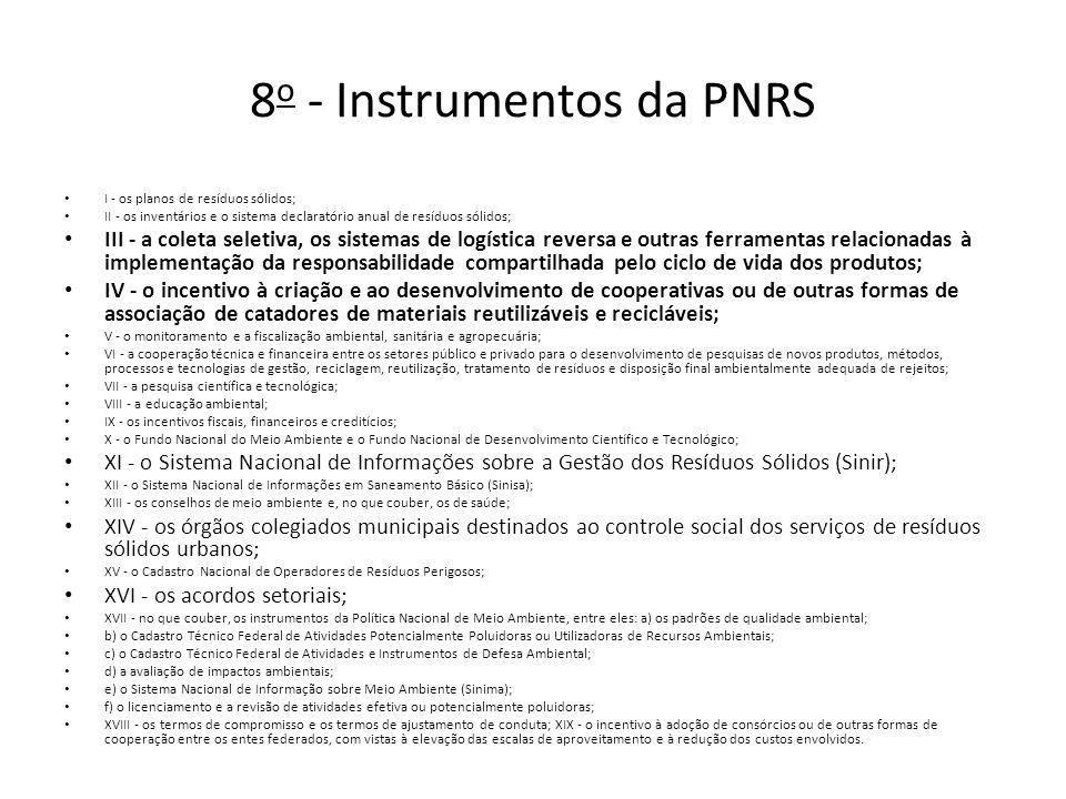 8o - Instrumentos da PNRS