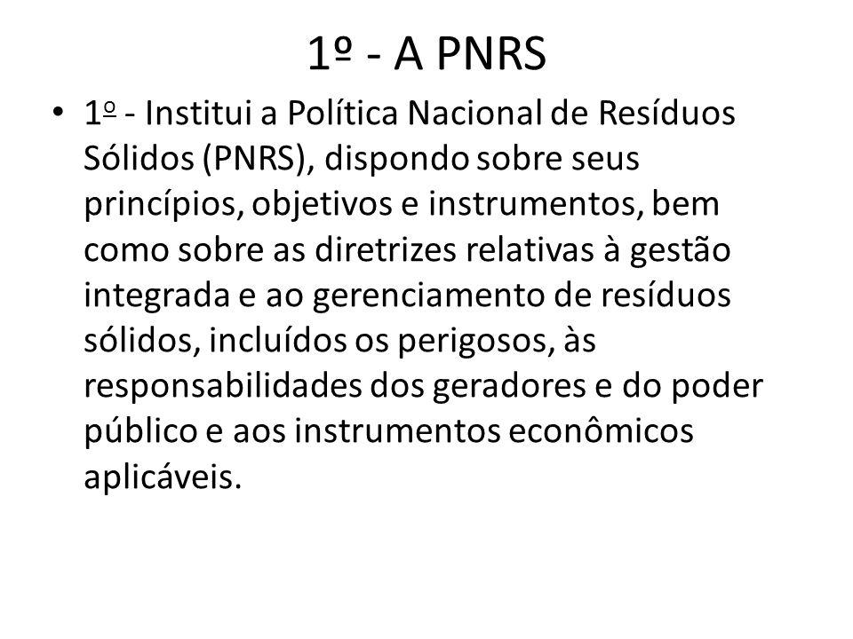 1º - A PNRS