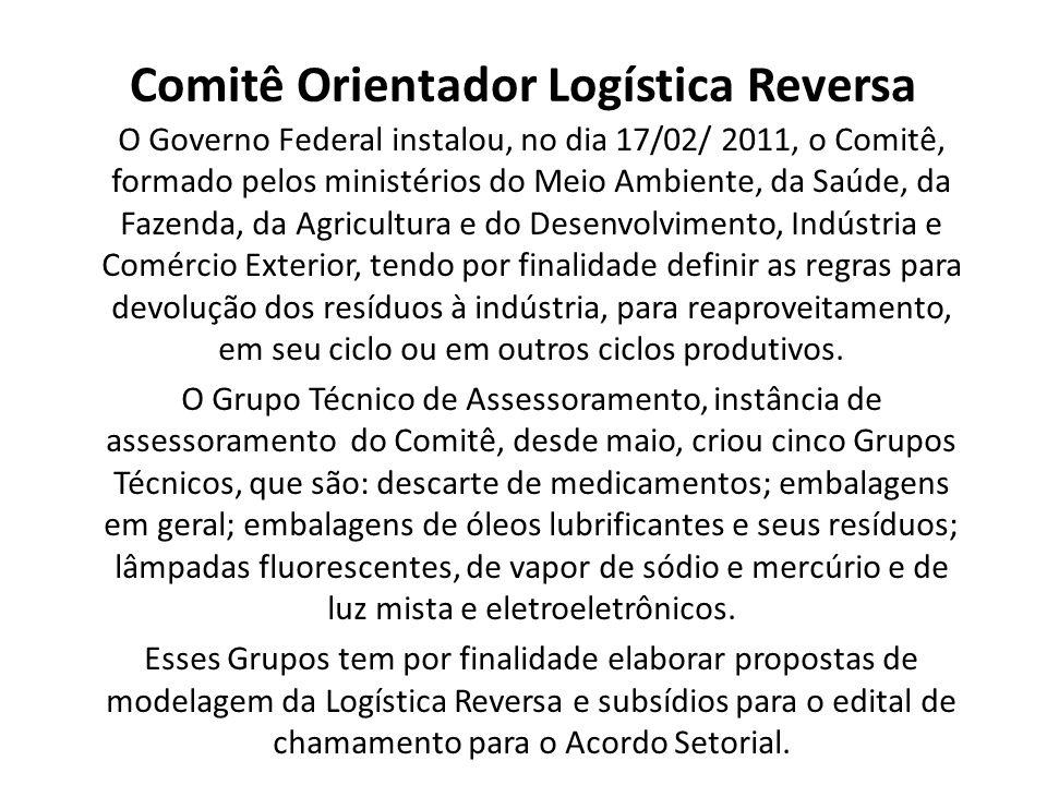 Comitê Orientador Logística Reversa