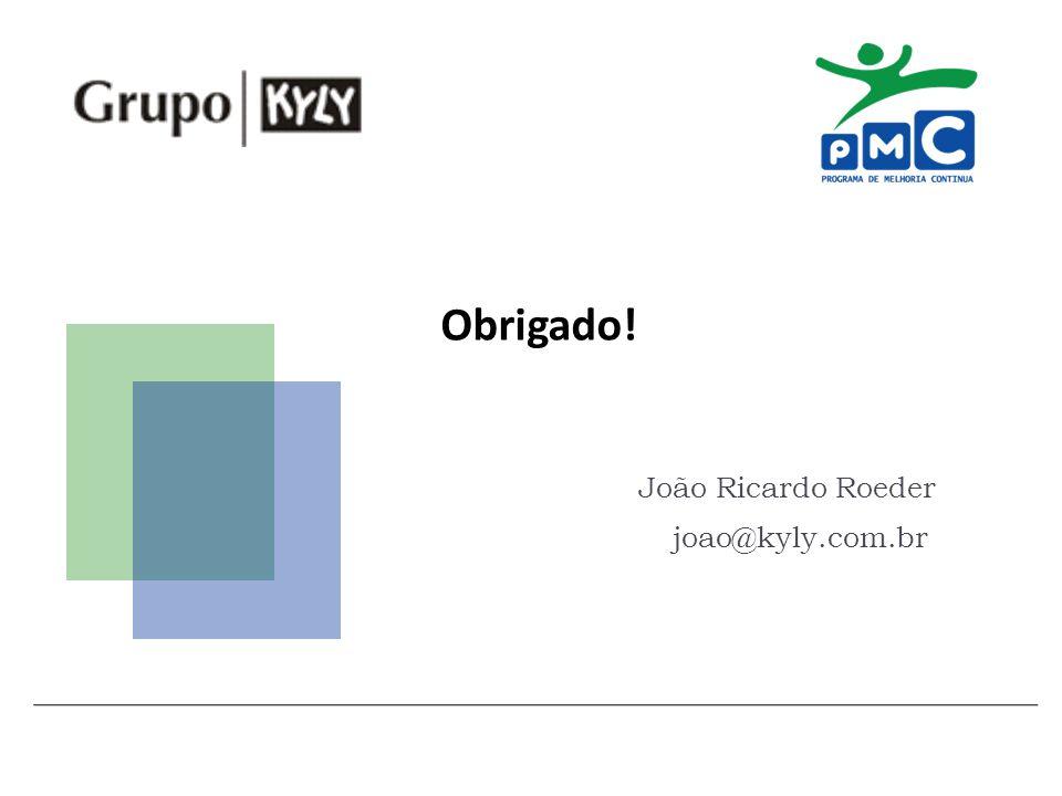 Obrigado! João Ricardo Roeder joao@kyly.com.br