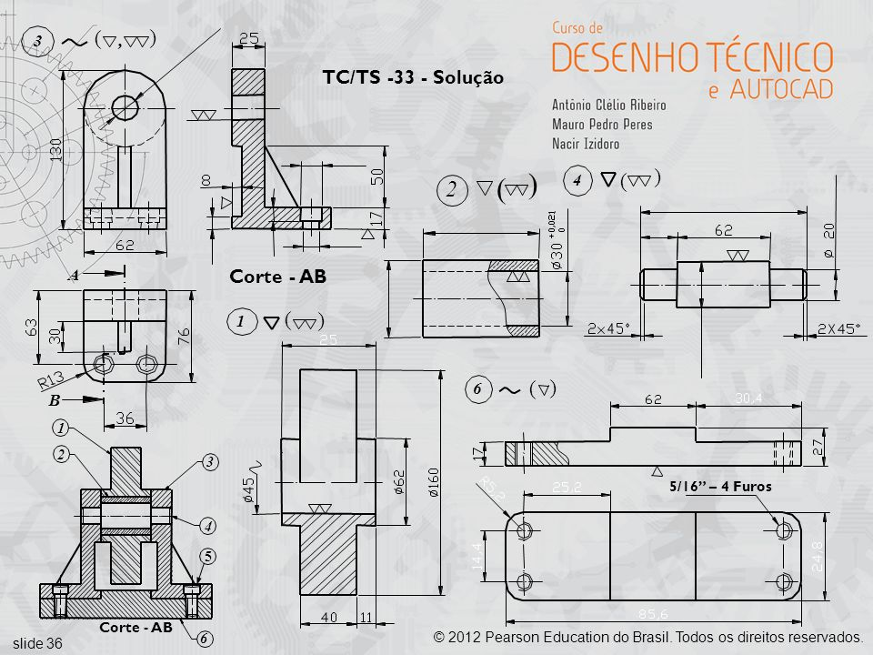 ( ( 2 ( ( ( ( TC/TS -33 - Solução Corte - AB 3 , 4 A 1 6 B 1 2 3