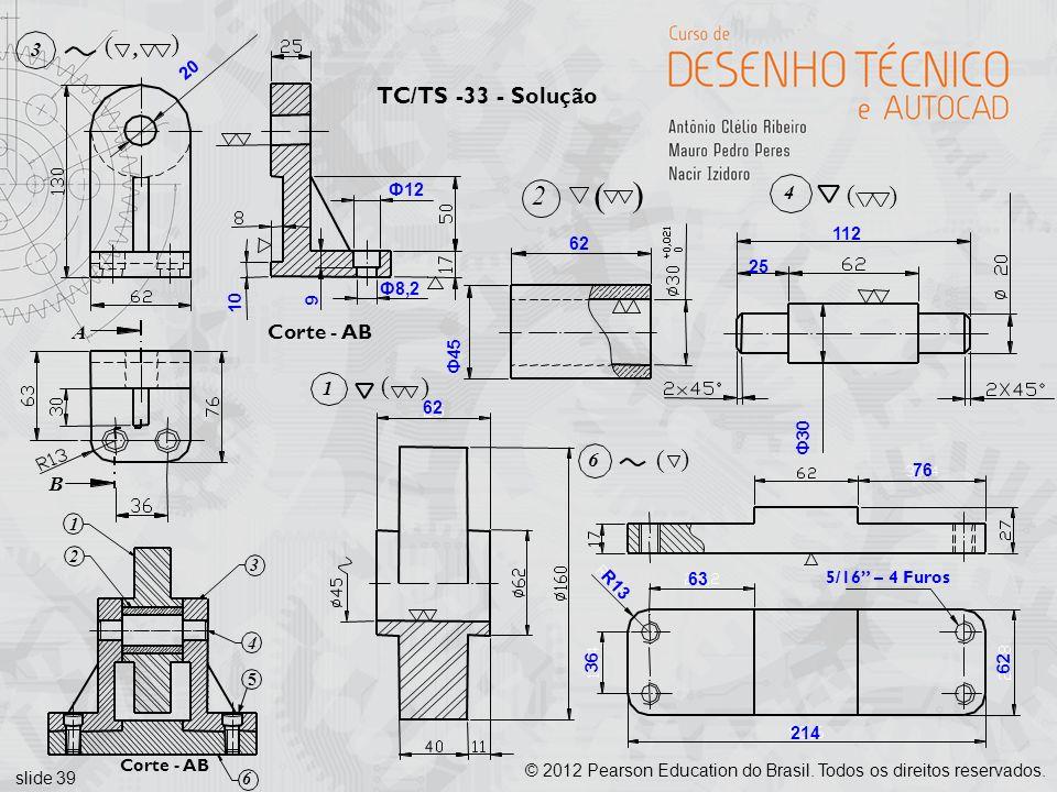 ( ( 2 ( ( ( ( TC/TS -33 - Solução Corte - AB A 3 , B 4 1 6 20 Ф12 112