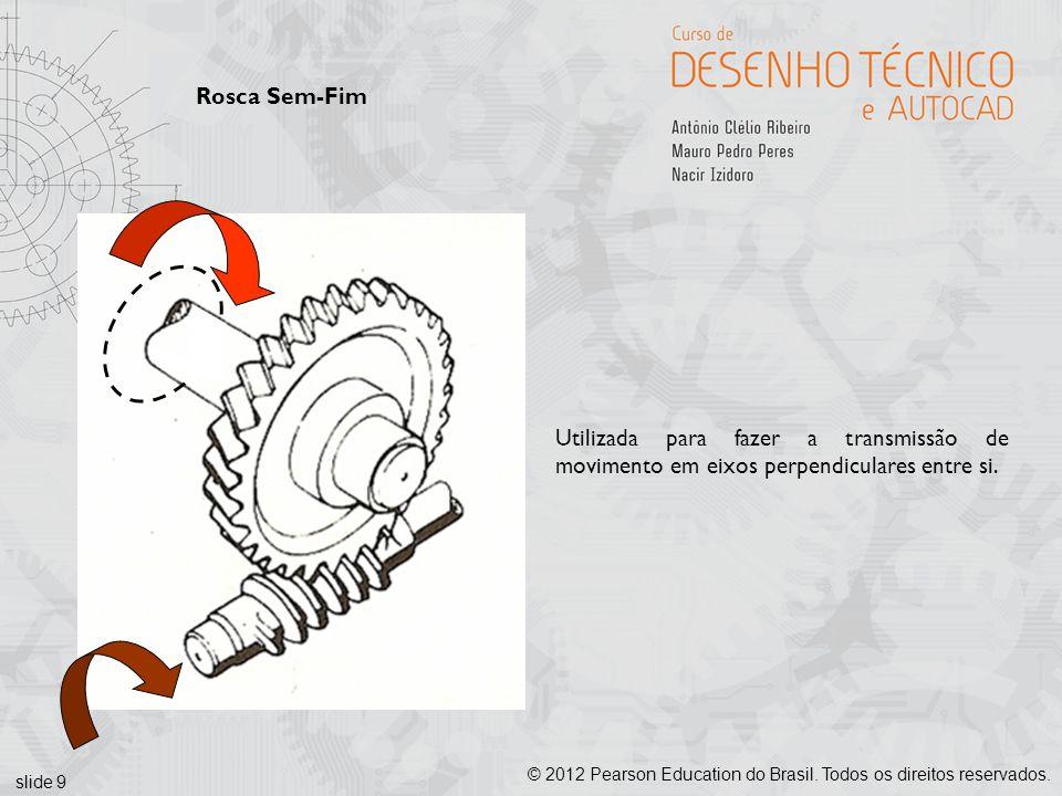 Rosca Sem-Fim Utilizada para fazer a transmissão de movimento em eixos perpendiculares entre si.