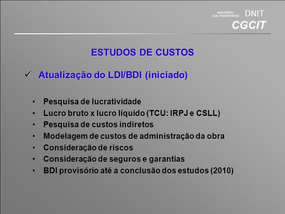 Atualização do LDI/BDI (iniciado)