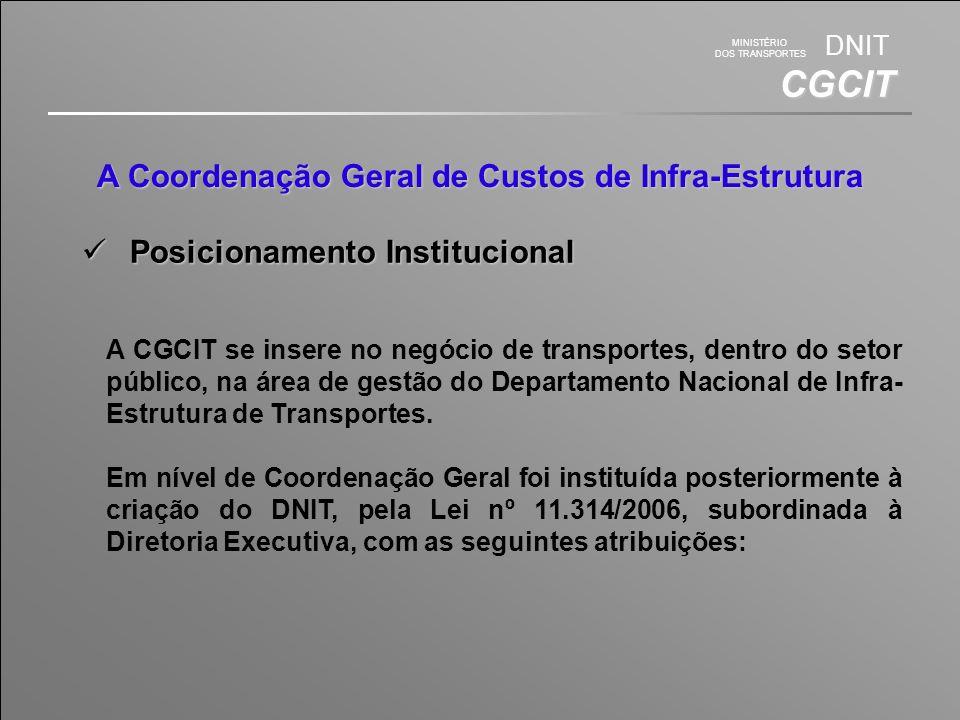 A Coordenação Geral de Custos de Infra-Estrutura