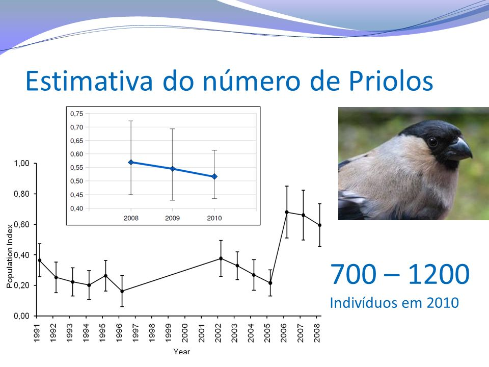 Estimativa do número de Priolos